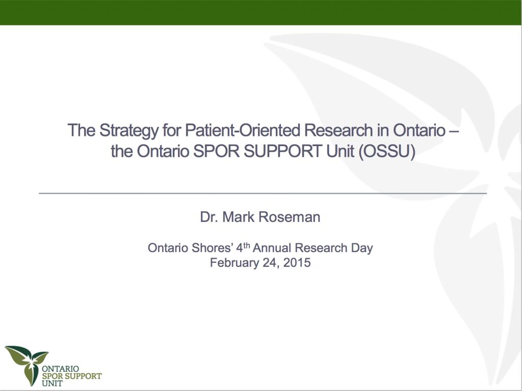 Ontario Shores Presentation